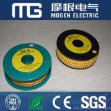 Marcador de cabo amarelo de PVC de alta qualidade (EC-0)