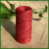 1 pincée de jute de couleur rouge pour l'artisanat