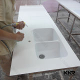 Проектированные Prefab верхние части кухни ванной комнаты камня кварца