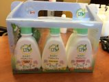 Caja de embalaje plástica de encargo para el conjunto de la promoción de la crema del gel del baño del champú