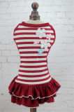 Design de qualité Coton Vêtements pour animaux de compagnie Princess Stripes Dog Dress