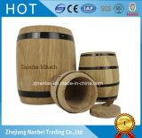 Barril de madera del roble de encargo de la insignia para el té del caramelo del café