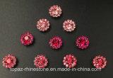 la garra cristalina ligera de la flor de 9m m Rose que fija los granos de cristal adentro para cose en el Rhinestone (TP-9mm todo el Lt. se levantó)