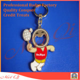 Trousseau de clés fait sur commande mignon de souvenir avec l'ouvreur de bouteille pour des cadeaux de promotion de compagnie