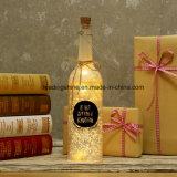 Luces decorativas de las botellas del LED con la botella de vino de cristal del corcho y de las luces estrelladas de la cadena con el anillo de la caída