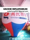 Elio di figura di goccia dell'acqua che fa pubblicità all'aerostato