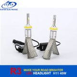 High Brightness CREE Xhp50 Lampe à LED 40W 4000lm H11 R3 LED Kit de phare pour voiture 6000k