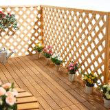 Plancher de bois de sapin DIY solide pour l'extérieur de tuiles de pont