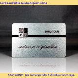 الفضة الطباعة PVC بطاقة الشريط المغناطيسي للعضو VIP