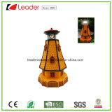 Света Figurines маяка Polyresin солнечные для украшения сада