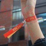 Браслета ткани полиэфира Wristband празднества материального высокого обеспеченного изготовленный на заказ
