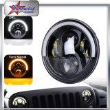 Nuevo 7 pulgadas 50W 5000lumen redondo alto Low Jeep Wrangler LED faro con función de giro