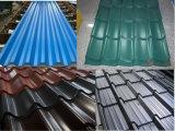 As folhas do telhado de metal/Revestimento Aluzinc Telhado de aço corrugado de exposição