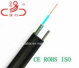 Cable óptico flojo central de fibra del tubo GYTC8S