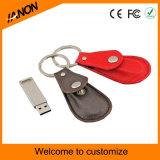 Neues Art-Leder USB-Blitz-Laufwerk beweglicher USB-Flash-Speicher