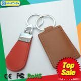 HUAYUAN heet verkopend Ntag213 NFC RFID leer Keychain