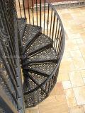 Escaleras espirales de la fundición de aluminio/escalera espiral Victorian grande