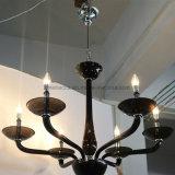 Weinlese-dekorative schwarze Glaskandelaber-Leuchter für Hotel