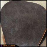 Couro sintético gravado clássico do plutônio para o sofá da mobília que faz Hx-F1750