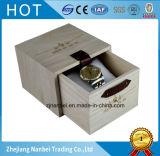 Verpakkende Dozen van het Horloge van het Embleem van de douane de Natuurlijke Houten