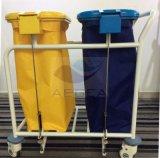 AG Ss019b는 2개의 리넨 부대 수동 조작 병원 청소 트롤리 가격을 승인했다