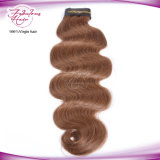 Волосы девственницы ферзя Remy волос объемной волны цвета 6# перуанские