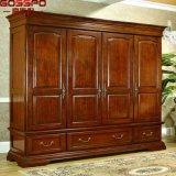Прогулка шкафа мебели спальни в деревянном шкафе (GSP17-016)
