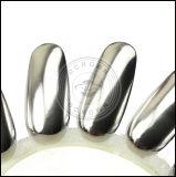 Pigmento lucido del polacco del gel del manicure dell'argento del metallo dello specchio del bicromato di potassio