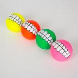 Giocattolo stridulo dell'animale domestico del giocattolo del vinile del cane di figura della sfera dei denti