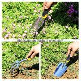園芸工具の頑丈な投げアルミニウムヘッド人間工学的のハンドルの園芸工具が付いている一定の5部分の園芸工具キットは頑丈なEsg10149の5部分の庭キットをセットした
