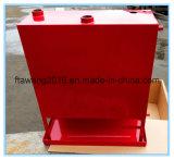 塗られた赤いボックス燃料タンクの水漕の燃料の容器