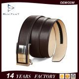 Мода для мужчин официальной одежды рельефная Оригинальные черные кожаные ремни безопасности с храповым механизмом