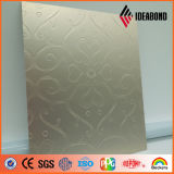 Ideabond 신제품 돋을새김된 접촉 시리즈 금속 알루미늄 판벽널