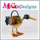 Embarcação de pato metálicos coloridos para decoração exterior