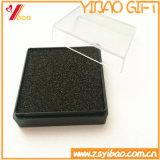 Caja de terciopelo azul personalizada, caja de terciopelo negro para Coin