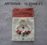 "12.5 ""Hx8.5"" Lchristmas Decoración Angel Giftbag"