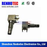 Connecteur de fiche SMB à angle droit à montage en PCB