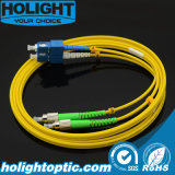 Оптическое волокно Patchcord Fca к желтому цвету Sc двухшпиндельному однорежимному