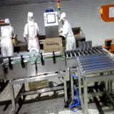 Wäger-Maschine auf Süßigkeit-Paketen überprüfen