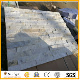 Pierre blanche de culture de quartzite/ardoise pour des tuiles de façade de mur