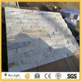 Quartzito Branco/cinza pedra de cultura para a fachada de azulejos de parede