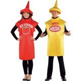 Promo Adulto Ketchup & Mustard Classica Casais Costume (CPGC7004X)