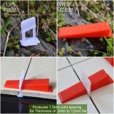 Red Wedge pour système de nivellement de tuiles de 3 à 12 mm
