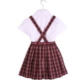 100%Cotton White Cotton Shirt and Scottish Skirt Primary School Uniform