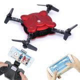 Prise Pocket 3D d'altitude d'appareil-photo de Fpv de WiFi de bourdon de RC la mini renverse les glissières sans tête Foldble Quadcopter du compas gyroscopique 4 du mode 6-Axis (rouge)