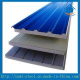 색깔 강철에 의하여 격리되는 EPS 거품 샌드위치 지붕과 벽면