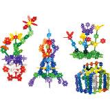 Kind-Blatt-Schneeflocke-Baustein-Spielzeug