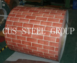 Напечатанная выбитая Striped деревянная штейновая катушка картины PPGI/Prepainted стальная