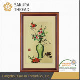 壁の装飾のための最新の刺繍のForalのハングの絵画