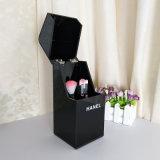 Polvo - organizador cosmético de acrílico negro del cepillo del maquillaje de la prueba